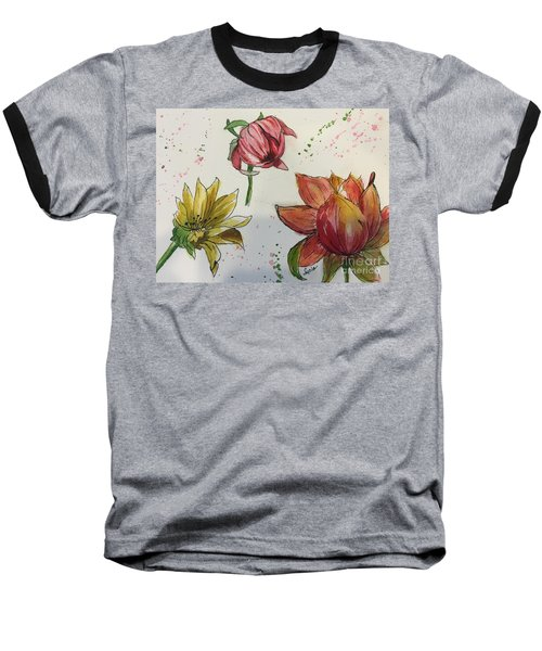 Botanicals Baseball T-Shirt by Lucia Grilletto
