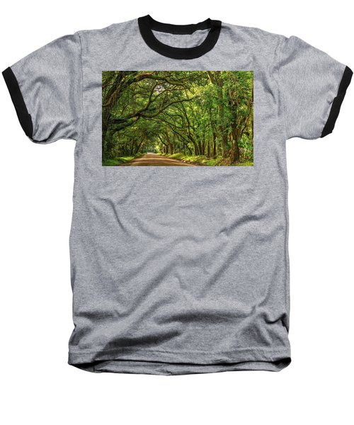 Botany Bay Edisto Island South Carolina Road Light And Shadow Baseball T-Shirt