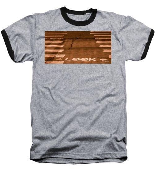 Both Ways - Urban Abstracts Baseball T-Shirt