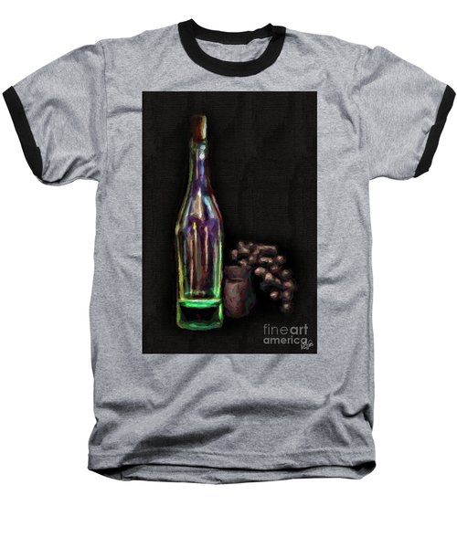 Baseball T-Shirt featuring the photograph Bottle And Grapes by Walt Foegelle