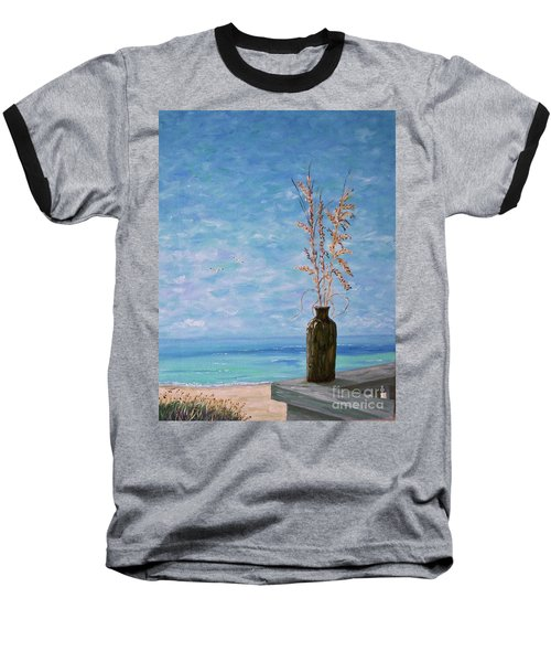 Bottle And Sea Oats Baseball T-Shirt