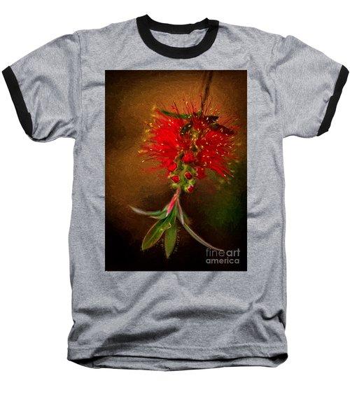 Bottle Brush Flower Baseball T-Shirt