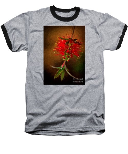 Bottle Brush Flower Baseball T-Shirt