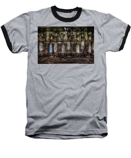 Baseball T-Shirt featuring the digital art Bottles Hanging On The Wall  by Nathan Wright