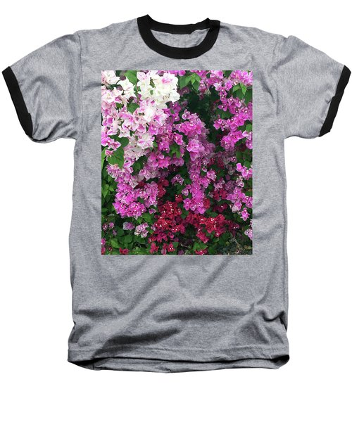 Bougainville Flowers In Hawaii Baseball T-Shirt