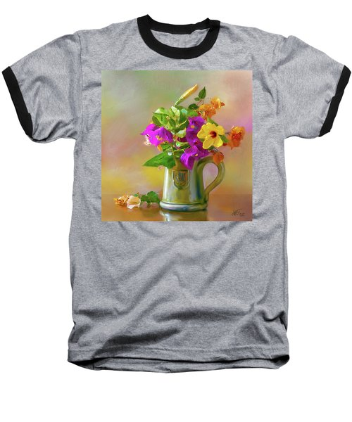 Bougainvilleas In A Green Jar. Baseball T-Shirt