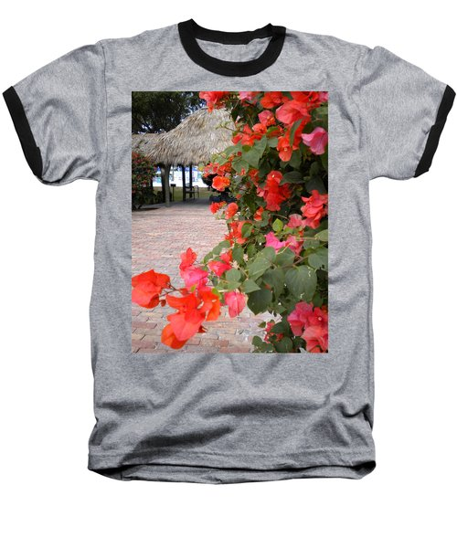 Baseball T-Shirt featuring the painting Bouganvilla 2 by Renate Nadi Wesley