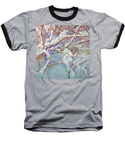 Baseball T-Shirt featuring the painting Boughs In Winter by Joanne Smoley
