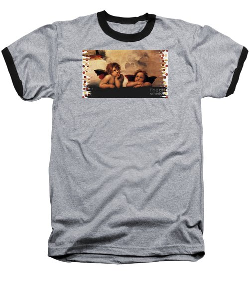 Baseball T-Shirt featuring the painting Bouguereau Painting Fresh Paint  by Catherine Lott