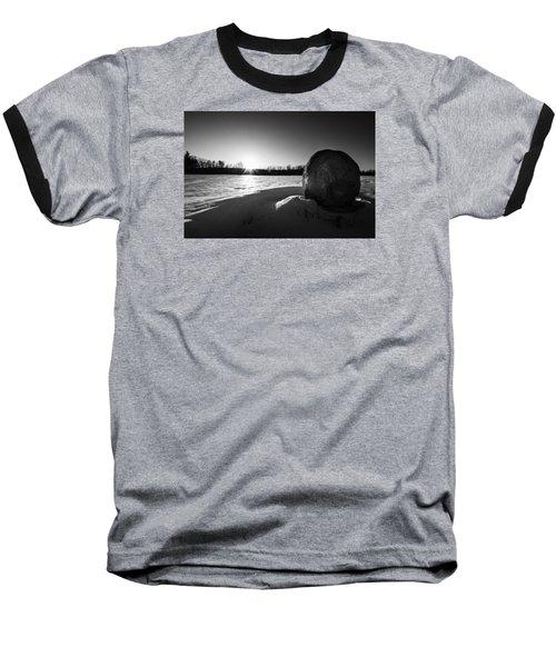 Boulder At Sunset Baseball T-Shirt