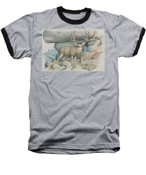 Boulder Buck  Baseball T-Shirt