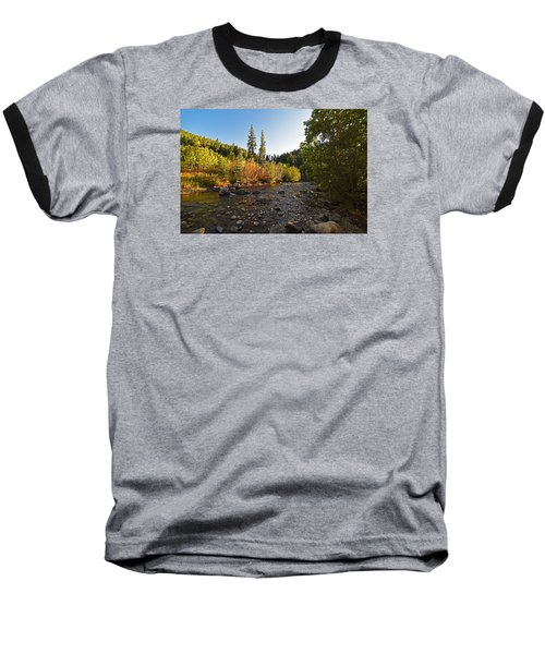 Boulder Colorado Canyon Creek Fall Foliage Baseball T-Shirt