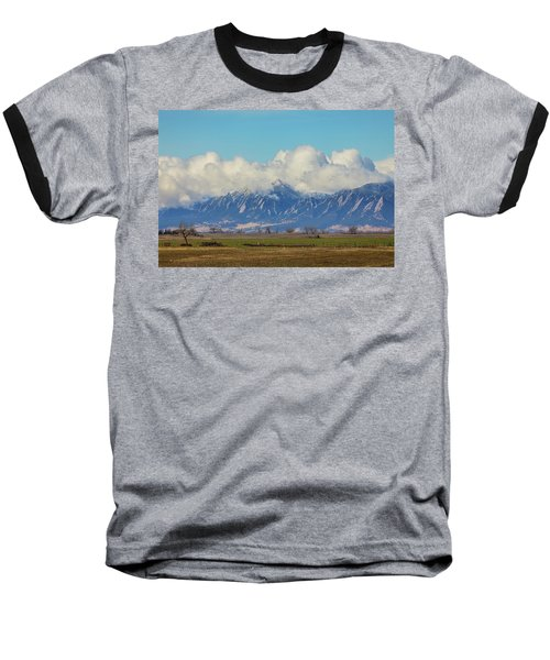 Baseball T-Shirt featuring the photograph Boulder Colorado Front Range Cloud Pile On by James BO Insogna