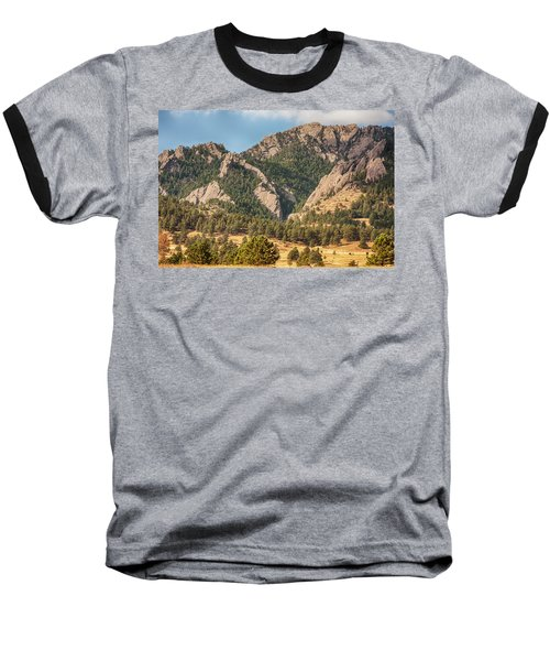 Baseball T-Shirt featuring the photograph Boulder Colorado Rocky Mountain Foothills by James BO Insogna