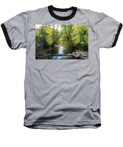 Boulder Creek Tumbling Through Early Fall Foliage Baseball T-Shirt