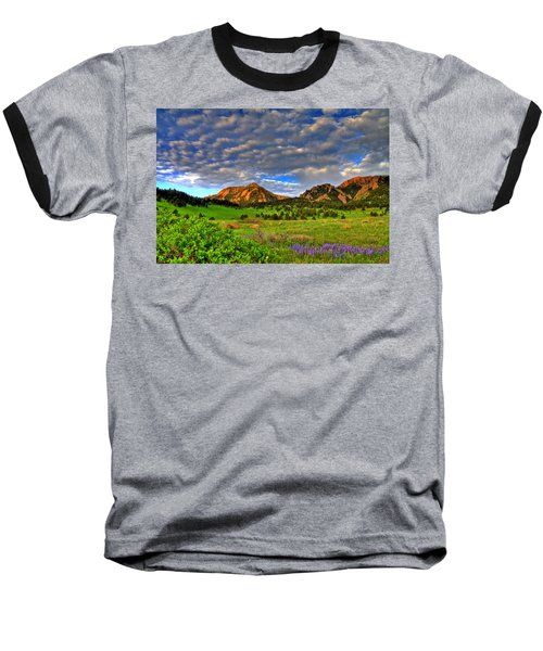 Boulder Spring Wildflowers Baseball T-Shirt