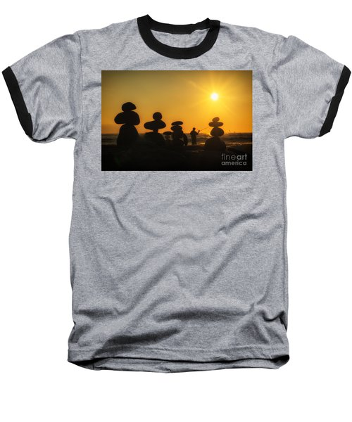 Boulders By The Sea Baseball T-Shirt