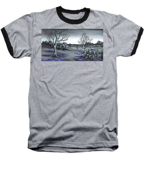 Boundry Fence. Baseball T-Shirt by Kenneth Clarke
