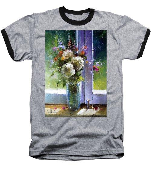 Bouquet At Window Baseball T-Shirt