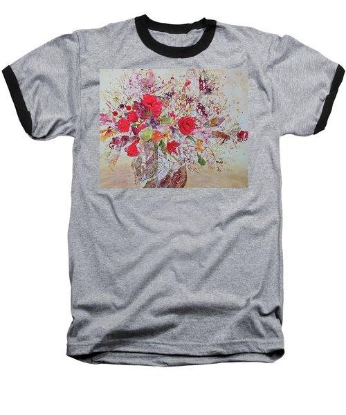 Baseball T-Shirt featuring the painting Bouquet Desjours by Joanne Smoley