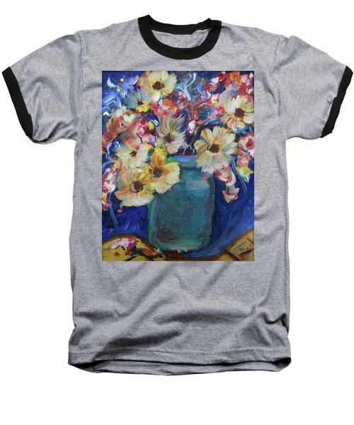 Bouquet Flowers Of Blue  Baseball T-Shirt