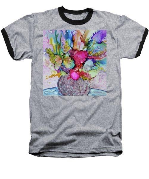 Bouquet In Pastel Baseball T-Shirt by Joanne Smoley