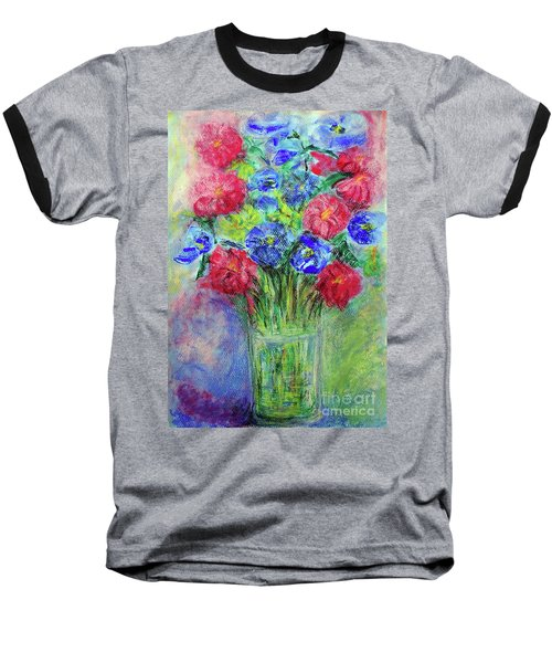 Baseball T-Shirt featuring the painting Bouquet by Jasna Dragun