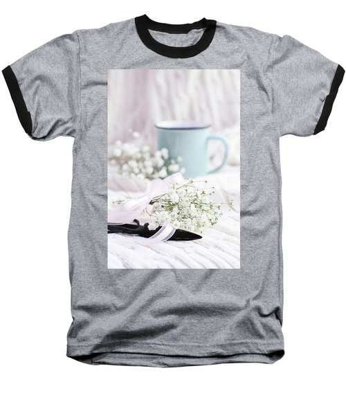 Bouquet Of Baby's Breath Baseball T-Shirt by Stephanie Frey