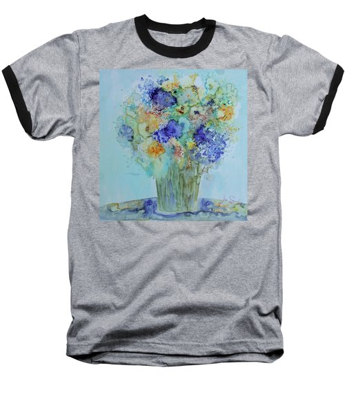Bouquet Of Blue And Gold Baseball T-Shirt by Joanne Smoley