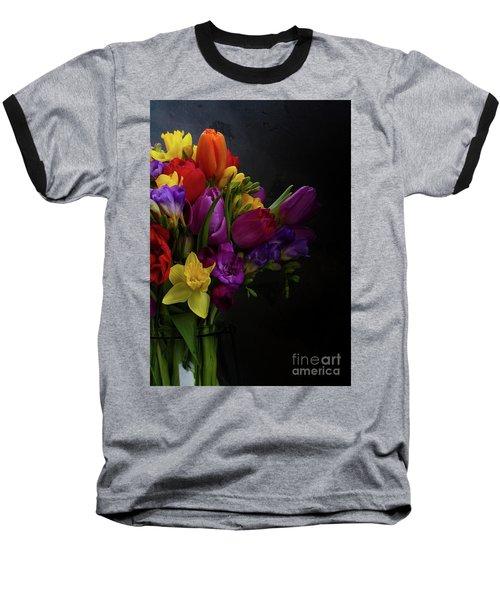 Flowers Dutch Style Baseball T-Shirt