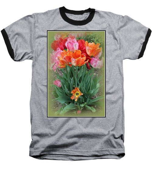 Bouquet Of Colorful Tulips Baseball T-Shirt