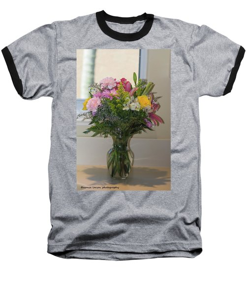 Bouquet Of Flowers Baseball T-Shirt by Nance Larson