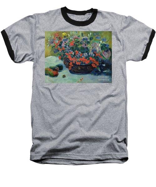 Bouquet Of Flowers Baseball T-Shirt by Paul Gauguin
