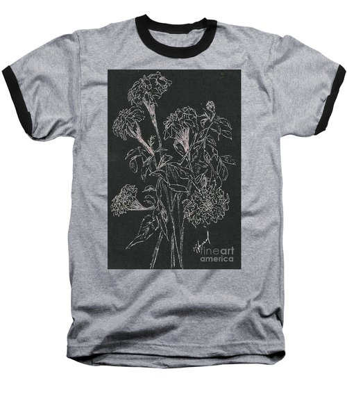 Baseball T-Shirt featuring the painting Bouquet Of Flowers  by Vicki  Housel