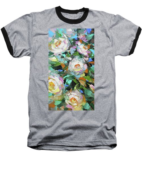 Baseball T-Shirt featuring the painting Bouquet Of Peonies  by Dmitry Spiros