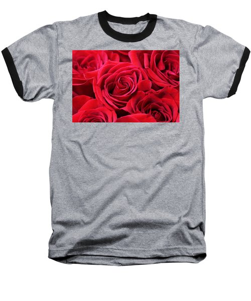 Bouquet Of Red Roses Baseball T-Shirt by Peggy Collins