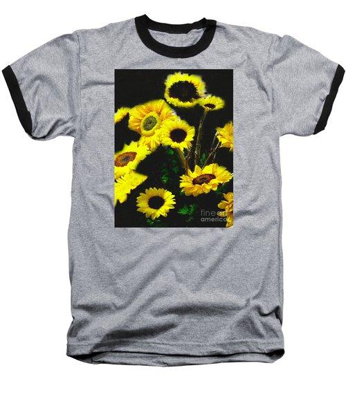 Baseball T-Shirt featuring the photograph Bouquet Of Sunflowers by Merton Allen