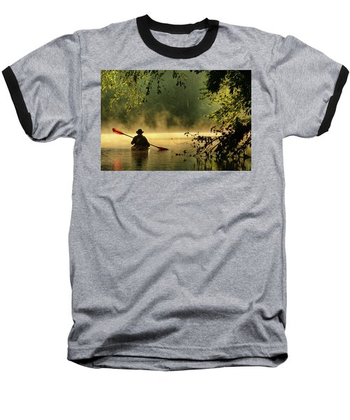Bourbeuse River  Baseball T-Shirt by Robert Charity