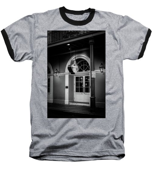 Bourbon O Bar In Black And White Baseball T-Shirt