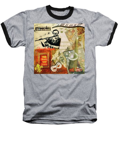 Bourbon Street Collage Baseball T-Shirt