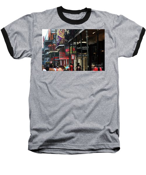 Baseball T-Shirt featuring the photograph Bourbon Street by Steven Spak