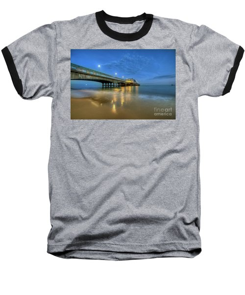 Baseball T-Shirt featuring the photograph Bournemouth Pier Blue Hour by Yhun Suarez