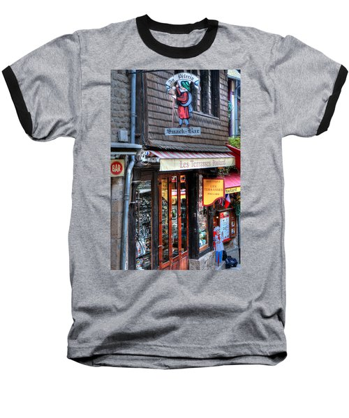Baseball T-Shirt featuring the photograph Boutique Les Terasses Poulard by Tom Prendergast