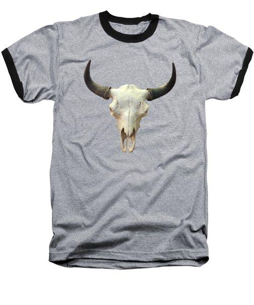 Bovine Baseball T-Shirt by Julio Lopez