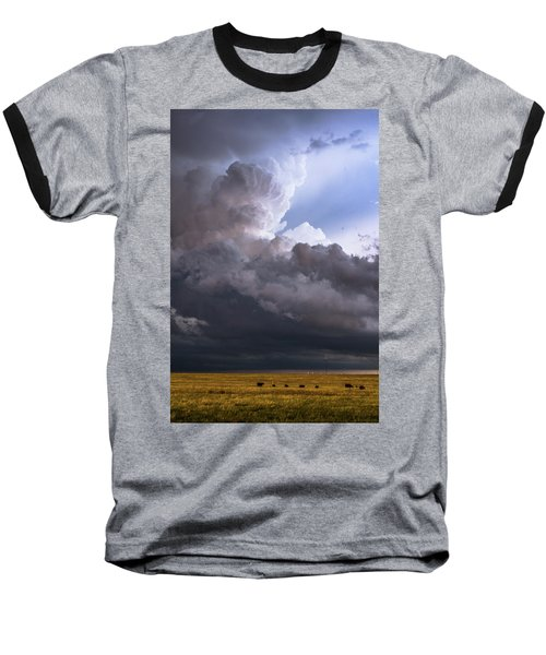 Bovine Tower Baseball T-Shirt