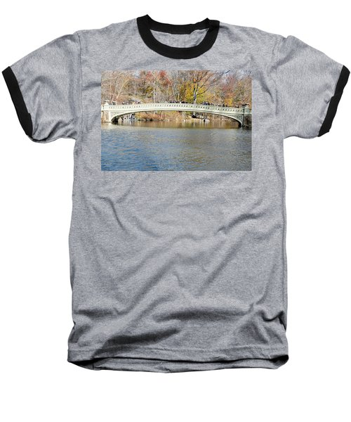 Baseball T-Shirt featuring the photograph Bow Bridge With Wedding by Steven Richman