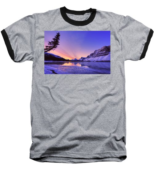 Bow Lake And Pine Baseball T-Shirt