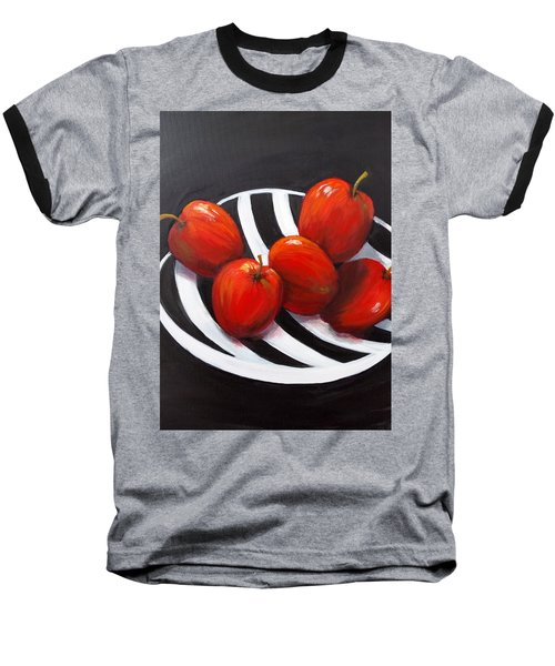 Bowl Of Shiny Apples Baseball T-Shirt