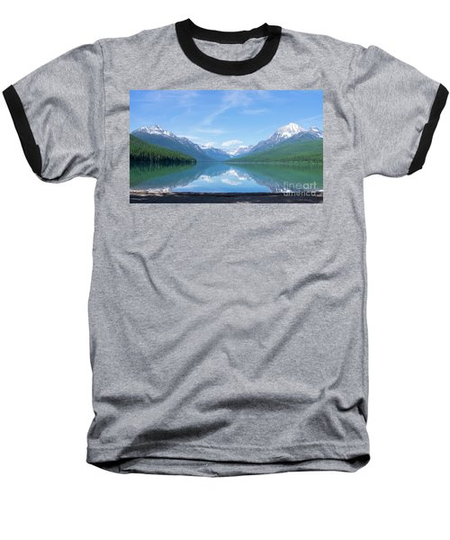 Bowman Lake Mt Baseball T-Shirt
