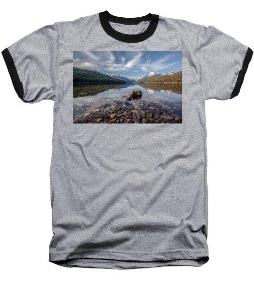 Baseball T-Shirt featuring the photograph Bowman Lake Rocks by Aaron Aldrich